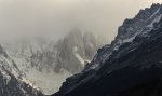 Cerro Torre from behind the clouds